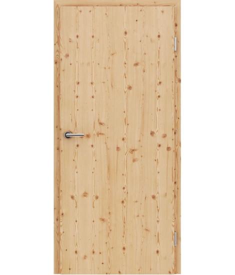 Furnirana notranja vrata s pokončno strukturo GREENline - macesen grča krtačen mat lužen lakiran