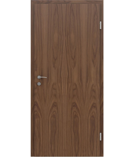 Furnirana notranja vrata s pokončno strukturo GREENline - oreh