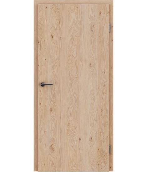 Furnirana notranja vrata s pokončno strukturo GREENline - hrast grča belo oljen