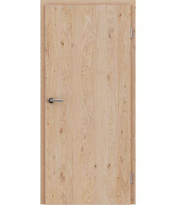 Furnirana notranja vrata s pokončno strukturo GREENline - hrast grča krtačen belo oljen