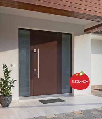 Lesena vhodna vrata TREND
