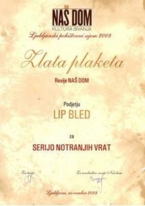 Picture of Zlata plaketa revije NAŠ DOM - kultura bivanja