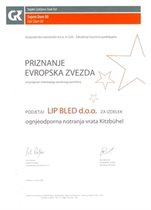 Picture of 1. nagrada Evropska zvezda 2008 za vrata Kitzbühl