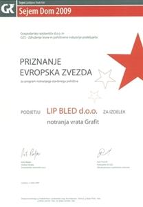 Picture of 1. nagrada Evropska zvezda 2009 - multifunkcijsko krilo in podboj javor Grafit