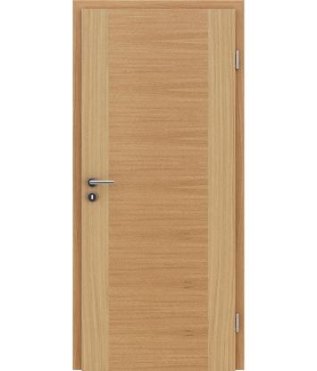 Furnirana notranja vrata s pokončno in/ali prečno strukturo VIVACEline - F1 hrast evropski natur lakiran