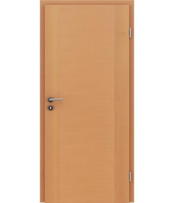 Furnirana notranja vrata s pokončno in/ali prečno strukturo VIVACEline - F1 bukev lakirana