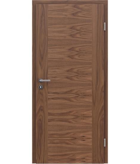 Furnirana notranja vrata s pokončno in/ali prečno strukturo VIVACEline - F1 oreh