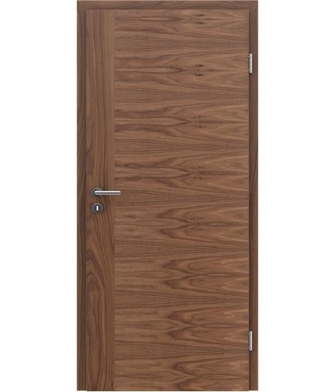 Furnirana notranja vrata s pokončno in/ali prečno strukturo VIVACEline - F3 oreh