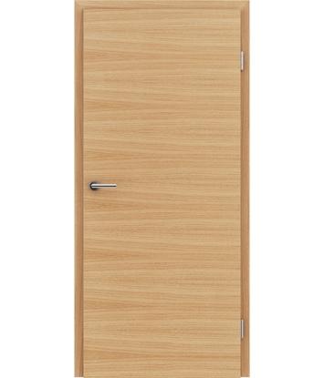 furnirana notranja vrata s kombinirano pokončno in prečno strukturo VIVACEline - F4 hrast evropski natur lakiran