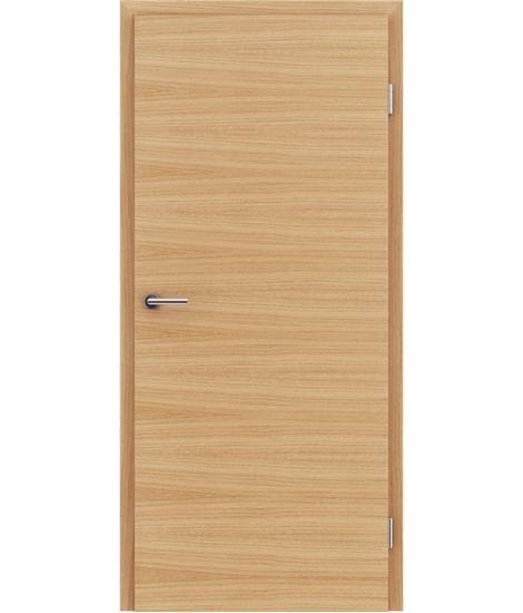 Furnirana notranja vrata s pokončno in/ali prečno strukturo VIVACEline - F4 hrast evropski natur lakiran