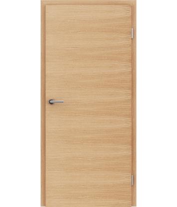 Furnirana notranja vrata s pokončno in/ali prečno strukturo VIVACEline - F4 hrast evropski krtačen natur lakiran
