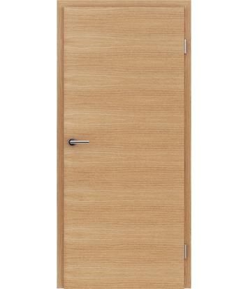 Furnirana notranja vrata s pokončno in/ali prečno strukturo VIVACEline - F4 hrast evropski krtačen oljen