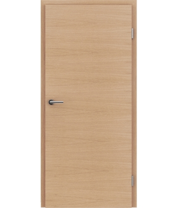 Furnirana notranja vrata s pokončno in/ali prečno strukturo VIVACEline - F4 hrast evropski mat lužen lakiran