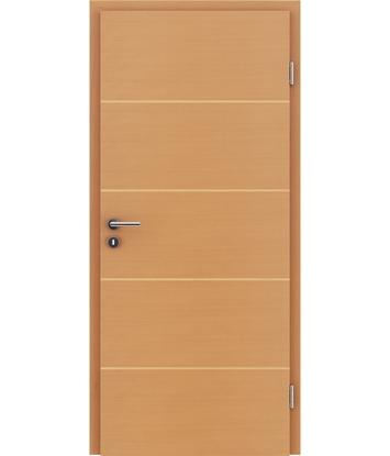 Furnirana notranja vrata s pokončno in/ali prečno strukturo VIVACEline - F11 bukev vstavek javor