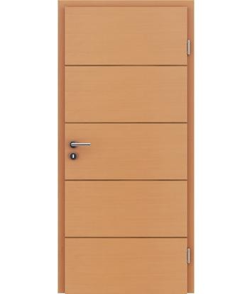 Furnirana notranja vrata s pokončno in/ali prečno strukturo VIVACEline - F11 bukev vstavek oreh