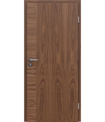 Furnirana notranja vrata s pokončno in/ali prečno strukturo VIVACEline - F12 oreh