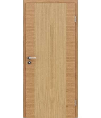 Furnirana notranja vrata s pokončno in/ali prečno strukturo VIVACEline - F14 hrast evropski natur lakiran