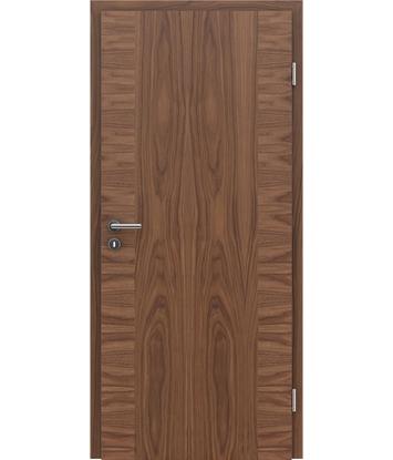 Furnirana notranja vrata s pokončno in/ali prečno strukturo VIVACEline - F14 oreh