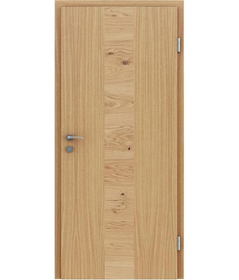 Furnirana notranja vrata s pokončno in/ali prečno strukturo VIVACEline - F40 hrast vstavek hrast grča