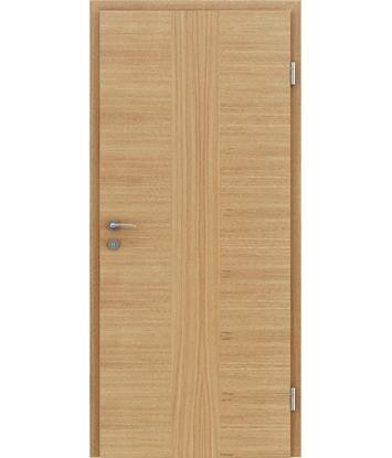 Furnirana notranja vrata s pokončno in/ali prečno strukturo VIVACEline - F41 hrast vstavek hrast