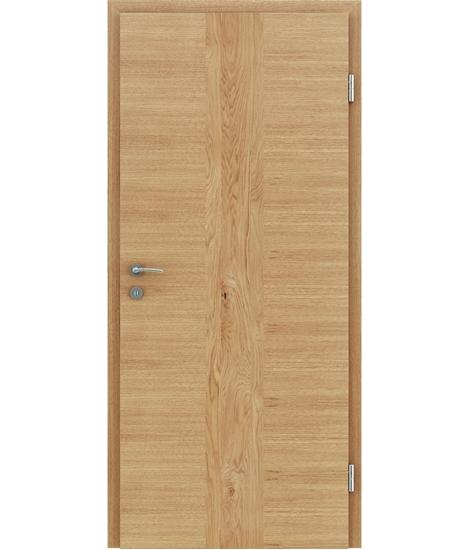 Furnirana notranja vrata s pokončno in/ali prečno strukturo VIVACEline - F41 hrast vstavek hrast grča