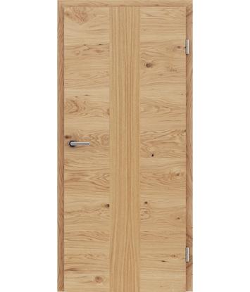 Furnirana notranja vrata s pokončno in/ali prečno strukturo VIVACEline - F41 hrast grča vstavek hrast