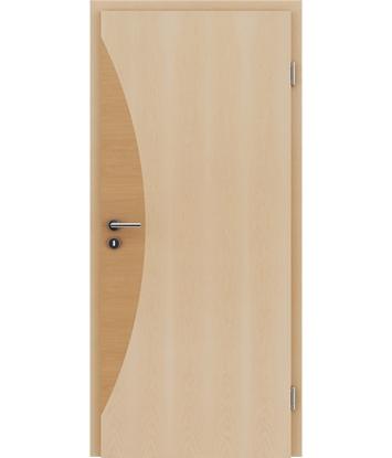 Picture of Furnirana notranja vrata z intarzijskimi vstavki HIGHline - I3 javor, intarzijski vstavek jelša