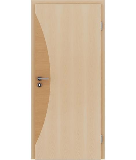 Furnirana notranja vrata z intarzijskimi vstavki HIGHline - I3 javor, intarzijski vstavek jelša
