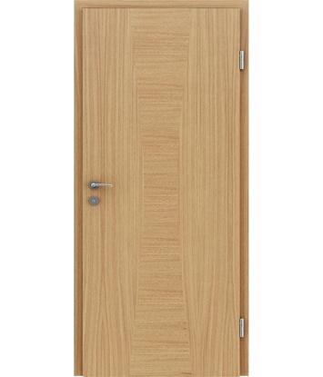 Picture of Furnirana notranja vrata z intarzijskimi vstavki HIGHline - I35 hrast evropski vstavek hrast evropski