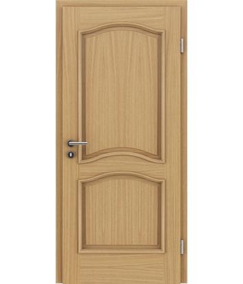 furnirana notranja vrata z okrasnimi letvicami - NAPOLEON STILline - SNC hrast evropski