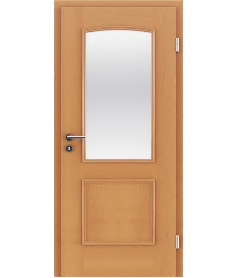 furnirana notranja vrata z okrasnimi letvicami in steklom STILline - SOA SO3 bukev
