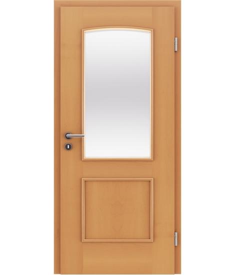 furnirana notranja vrata z okrasnimi letvicami in steklom STILline - SOAD SO3 bukev