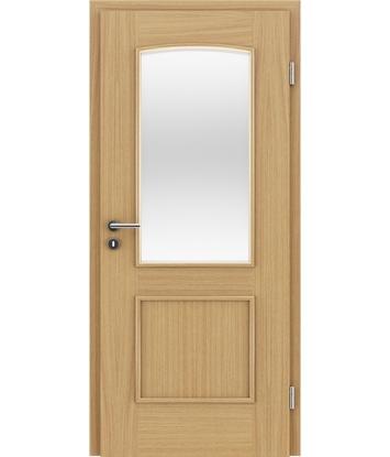 furnirana notranja vrata z okrasnimi letvicami in steklom STILline - SOAD SO3 hrast evropski