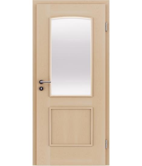 furnirana notranja vrata z okrasnimi letvicami in steklom STILline - SOAD SO3 javor