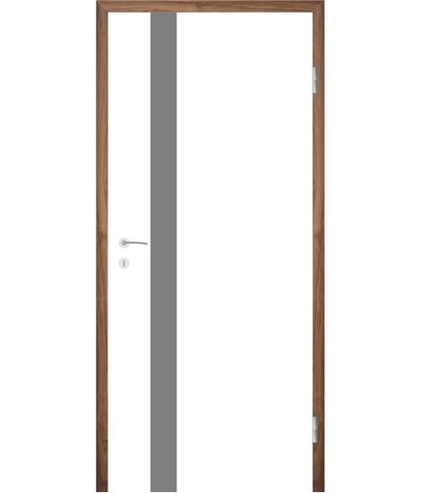 Belo pleskana notranja vrata z utori COLORline - MODENA + R25L