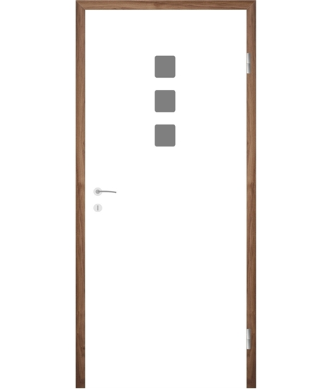 Belo pleskana notranja vrata z utori COLORline - MODENA + R26L