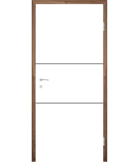 Belo pleskana notranja vrata z utori COLORline - MODENA R11L