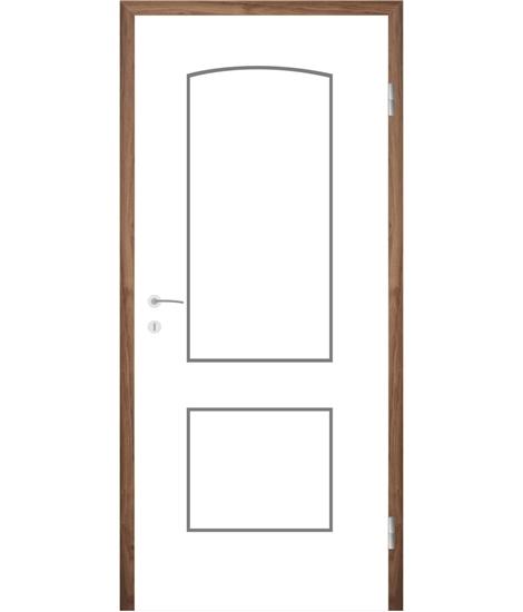 Belo pleskana notranja vrata z utori COLORline - MODENA R14L