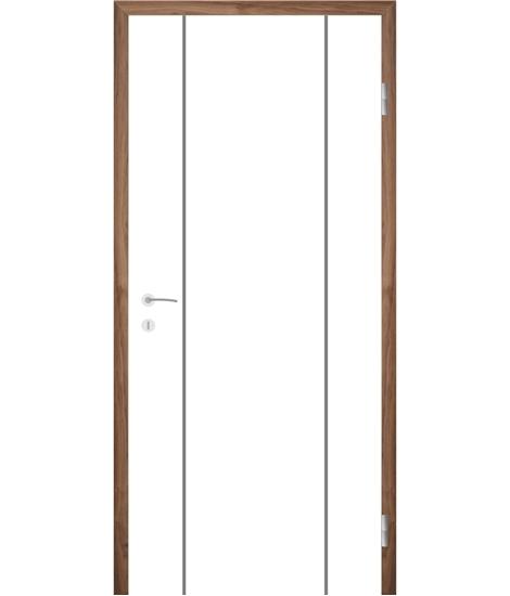 Belo pleskana notranja vrata z utori COLORline - MODENA R15L