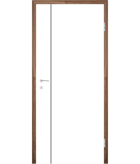 Belo pleskana notranja vrata z utori COLORline - MODENA R16L