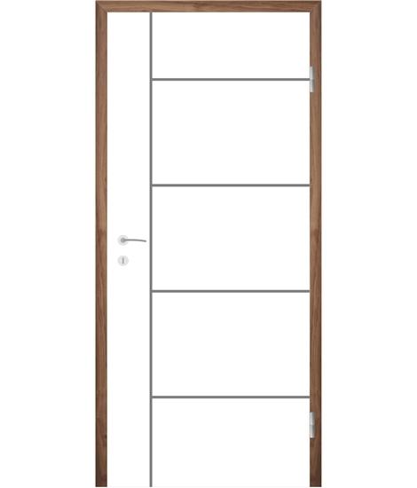Belo pleskana notranja vrata z utori COLORline - MODENA R17L