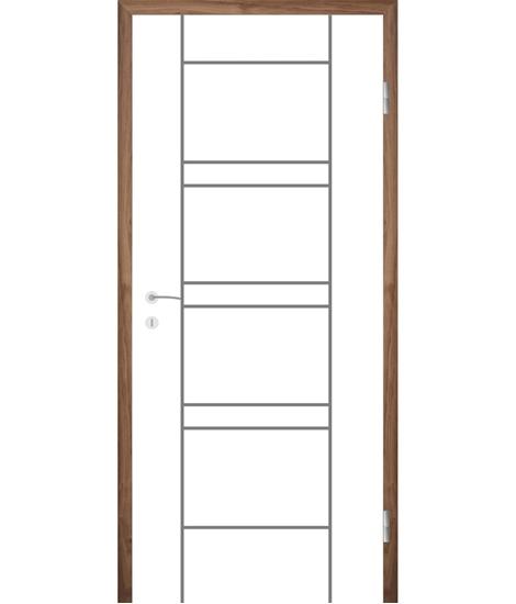 Belo pleskana notranja vrata z utori COLORline - MODENA R18L