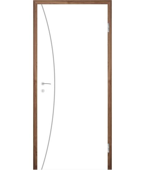 Belo pleskana notranja vrata z utori COLORline - MODENA R21L