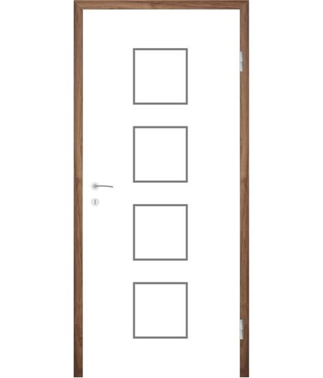 Belo pleskana notranja vrata z utori COLORline - MODENA R23L