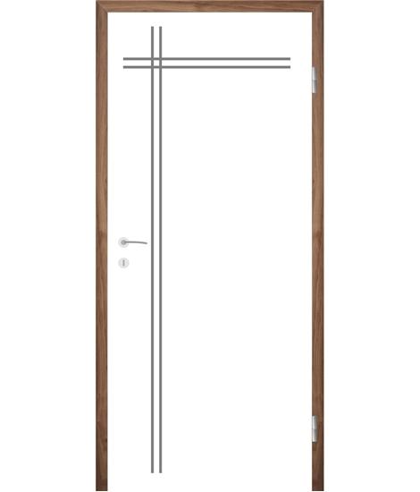 Belo pleskana notranja vrata z utori COLORline - MODENA R24L