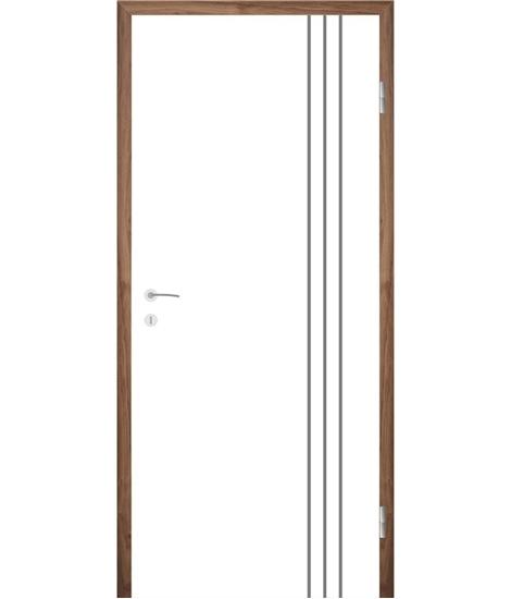 Belo pleskana notranja vrata z utori COLORline - MODENA R36L