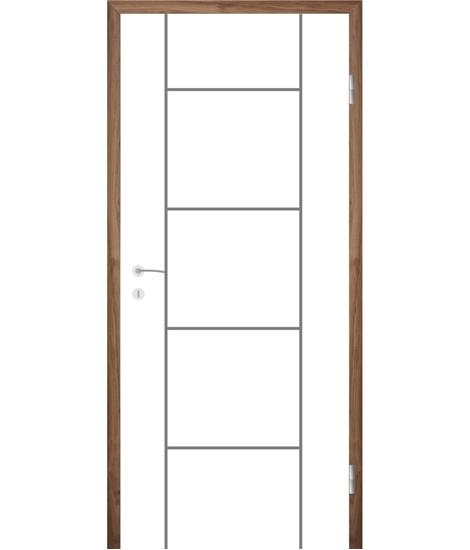 Belo pleskana notranja vrata z utori COLORline - MODENA R5L
