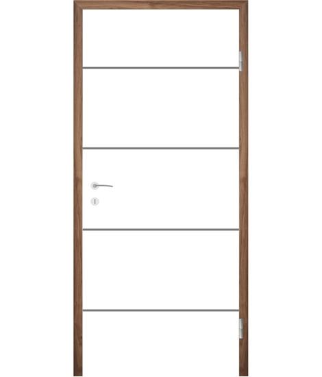 Belo pleskana notranja vrata z utori COLORline - MODENA R6L