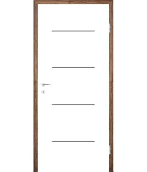 Belo pleskana notranja vrata z utori COLORline - MODENA R7L