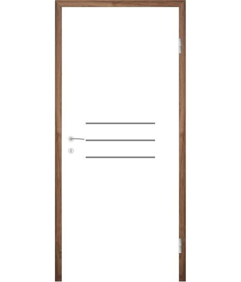 Belo pleskana notranja vrata z utori COLORline - MODENA R8L